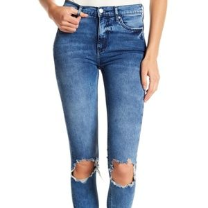Free People High Rise Busted Skinny Jeans NWOT